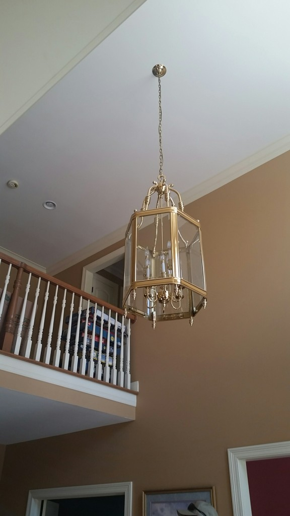Not so Brass Chandelier Love