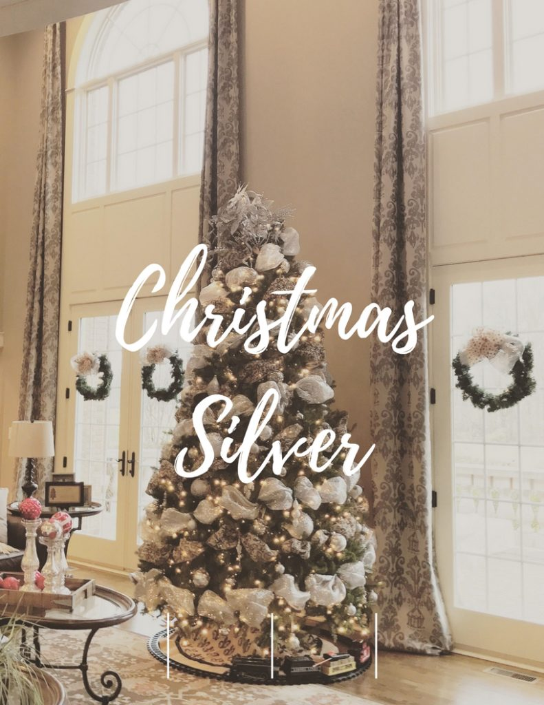 Christmas Silver Home Tour Splendor